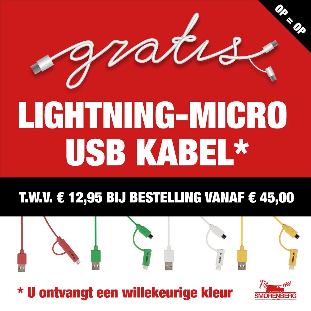 USB kabel cadeau!